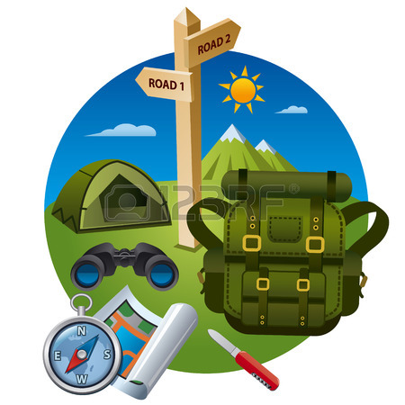 hiking-icon-concept